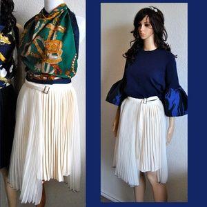 Dresses & Skirts - Pleated Midi Wrap Skirt Asymmetric Plisse
